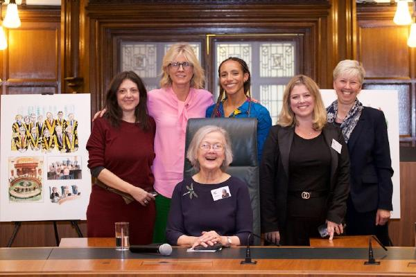 Description: Dr Laura Janes_ Henny Beaumont_ Lady Hale_ Afua Hirsch_ Esther Pilger and Carol...