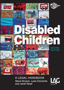 Disabled children: a legal handbook