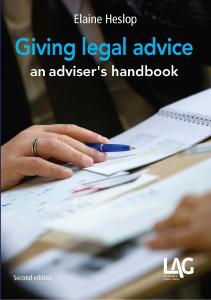 Description: Giving legal advice: an adviser's handbook