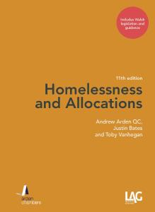 Homelessness and Allocations (Welsh edition)