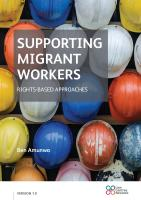 Supporting Migrant Workers Manual cover