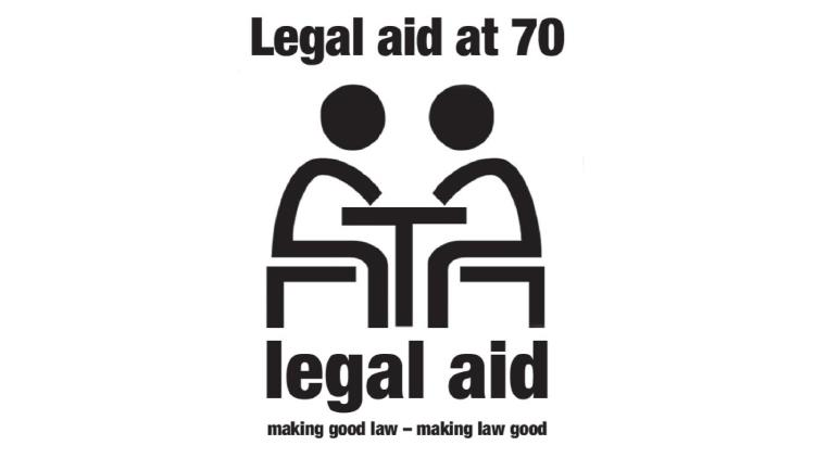 Description: Legal aid at 70 logo