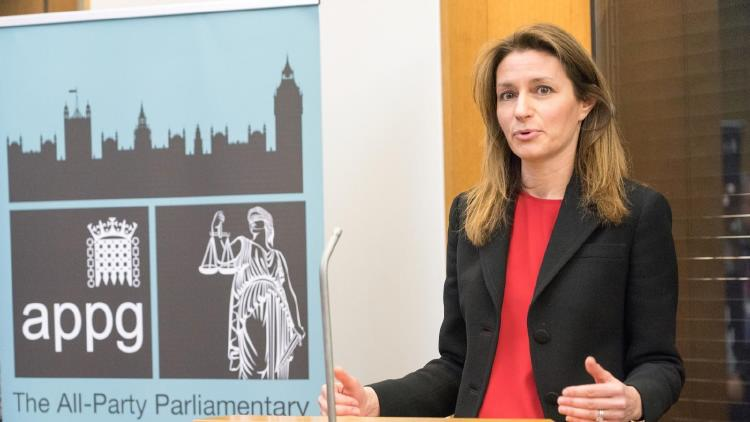 Description: Lucy Frazer QC MP at APPG Legal Aid on 28 Jan 2019_credit Richard Gray LAPG