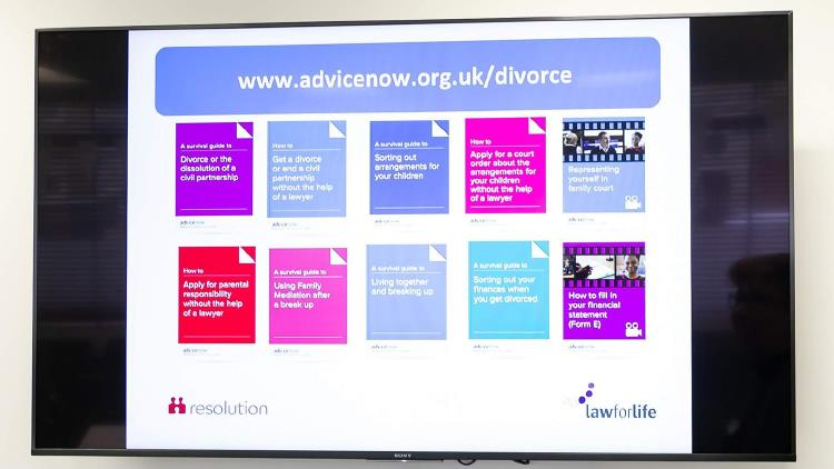 Description: Affordable Advice screen image launch event 25 February 2020 (photo Laura Shimili...