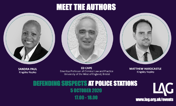 Description: Defending Suspects at Police Stations: meet the authors (recording)