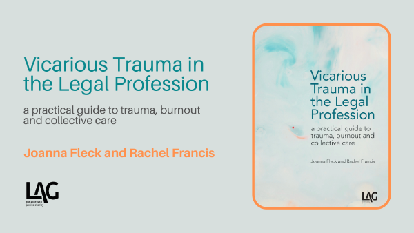 Description: Vicarious Trauma in the Legal Profession - book launch (recording)